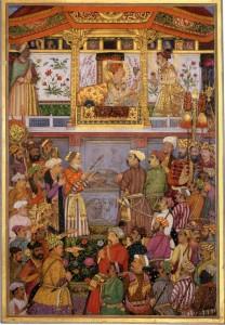 Payag, Jahangir presents Prince Khurram with a turban ornament, circa 1640.