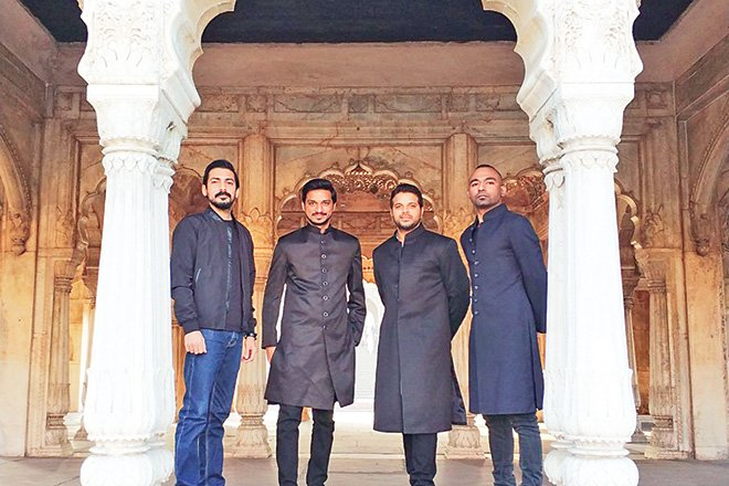 Mughal-e-Funk features an accomplished group of musicians such as (L-R) Farhan Ali, Rufus Shehzad, Rakae Jamil and Kami Paul. The group made its Coke Studio debut this season with the song, 'Aurangzeb'.