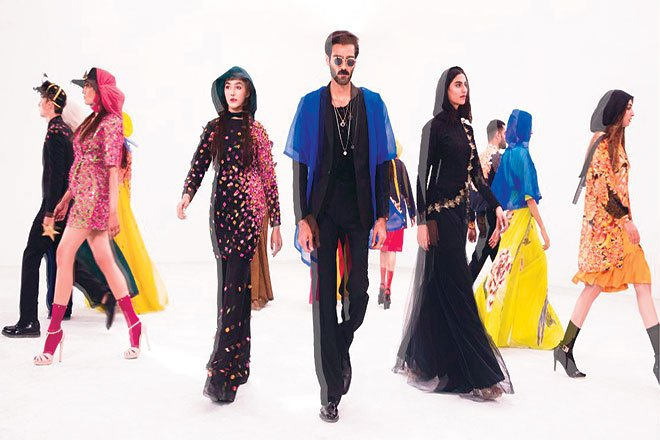 Fahad Hussayn experimented with a different format, recording an entire runway show and then airing it digitally on his social media.
