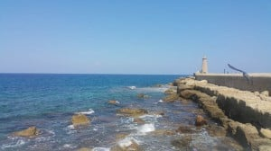 Lighthouse Rampart at Kyrenia harbour.