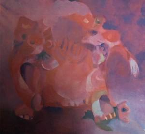 Rasheed Chowdhry: Decorated Elephant.