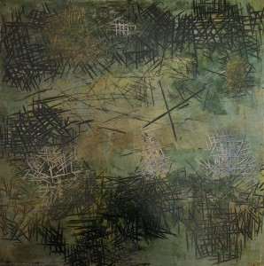 Muhammad Kibria: Painting in a Grey-Green.