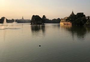 Lake in Yangon.