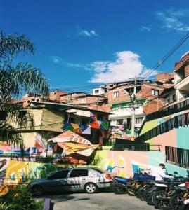 The murals of Comuna 13.