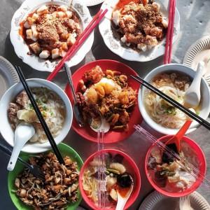 The best street food: Penang.