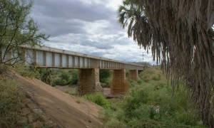 Bridge at Tsavo in East Africa, as it  stands today.