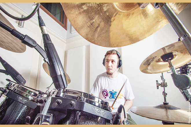 Istvan Csabai, video producer at A for Aleph and drummer for The D/A Method.