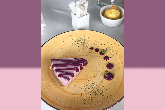 Jamun cheesecake