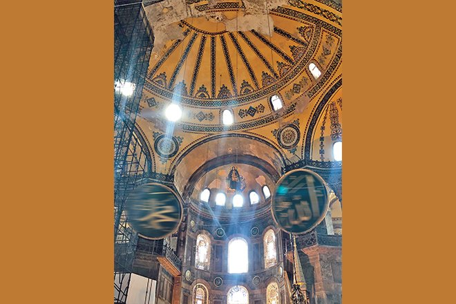 The historical marvel that is Hagia Sophia in Istanbul.