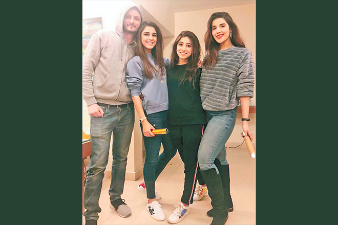 The cast of 2017's Diyar-e-Dil featured Islamabadis like Osman Khalid Butt, Mariyam Nafees and Hareem Farooq, photographed here with co-star Maya Ali.