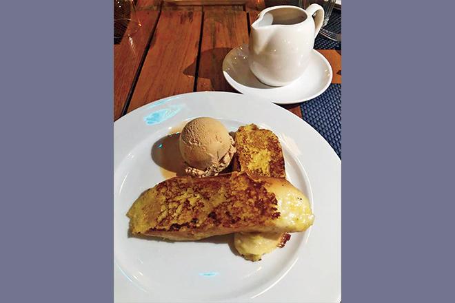 The Karak Chai French Toast was the most memorable dish on the menu at Basanti.Gigi HadidHalsey