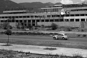 Parliament House under Construction in 1976.