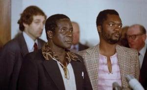 Zimbabwe African National Union leader Robert Mugabe in Geneva, Switzerland, 1976.