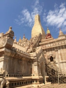 Ananda Temple in Bagan. This masterpiece of architecture was constructed in 1090.
