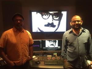 Thaver and Kamalkar at a colour correction facility in NYC.