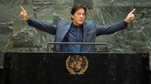 PM ImranKhan delivers his speech at the United Nations General Assembly.