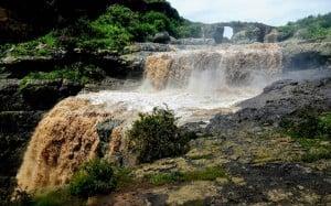 Falls near the old Portuguese Bridge