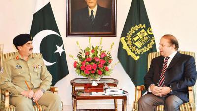 PM, COAS discuss progress of Operation Zarb-e-Azb