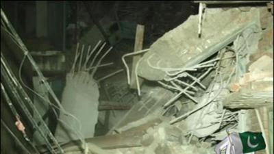 Seven injured as under-construction building collapses in Lahore