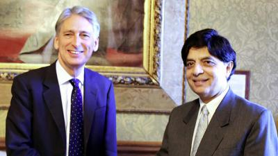 Chaudry Nisar meets UK Foreign Secretary