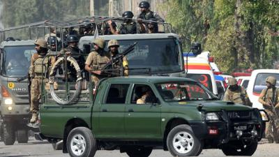 PAF camp attacked in Badaber: Army captain among 29 martyred