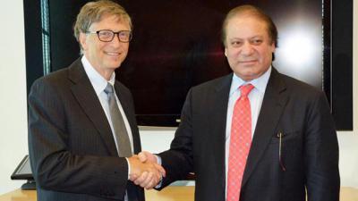 Bill Gates meets PM Nawaz, lauds anti-polio efforts