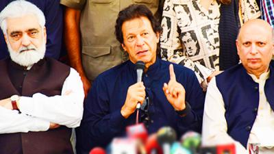 Imran warns of protests if rigging occurs in by-elections