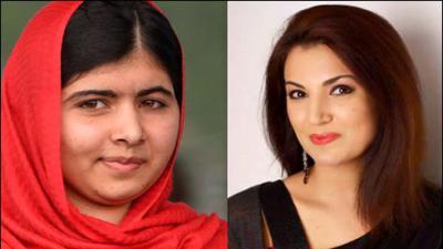Reham Khan meets Malala in Birmingham