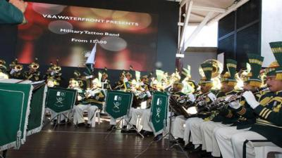 Pakistan tri-services military band performs at Cape Town