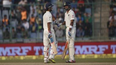 Kohli, Rahane rebuild India innings in fourth Test