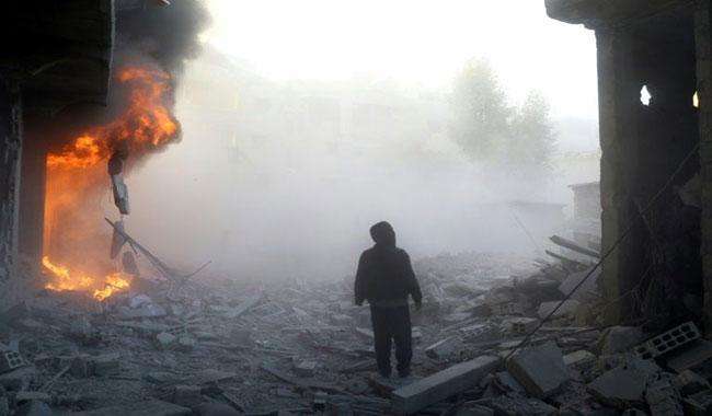 Bombardment of rebel bastion near Syria capital kills 28: monitor