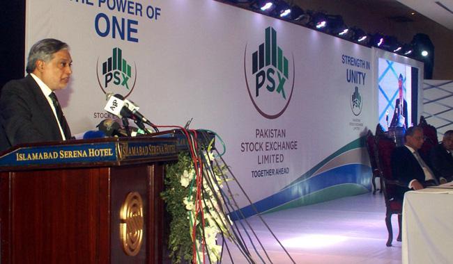 Ishaq Dar formally launches Pakistan Stock Exchange
