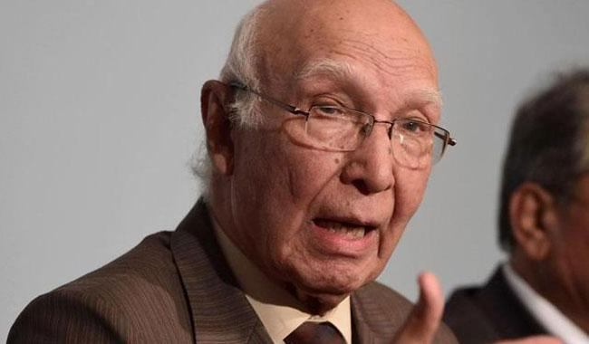 Pakistan not sending ground troops to any country: Sartaj Aziz