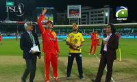 Peshawar Zalmi win toss, elect to field