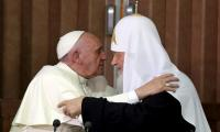 Pope, Russian Patriarch embrace after 1,000-year split
