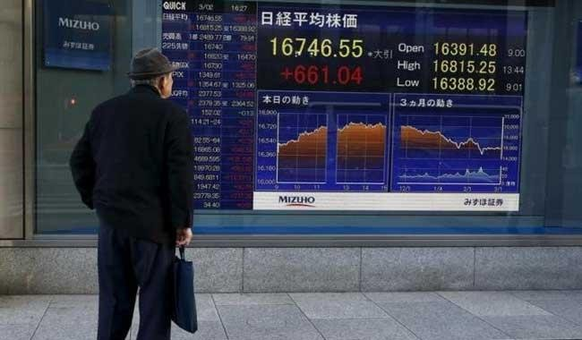 Asian shares drop as banks come under pressure, yen soars