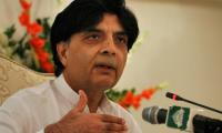 Nisar asks Islamabad administration to settle issues with PTI over F-9 Park rally