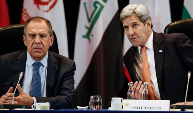 Russia's Lavrov, US Kerry express full support for Syria peace talks
