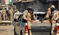 Rangers recover arms from Shuhada graveyard Azizabad, arrest three