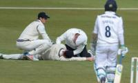 Australia´s Voges taken to hospital after being hit by ball