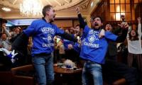 Leicester claim Premier League title as Spurs held