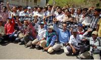 Journalists rally on World Press Freedom Day