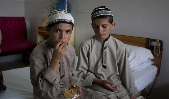 Solar kids turn to normal life after treatment