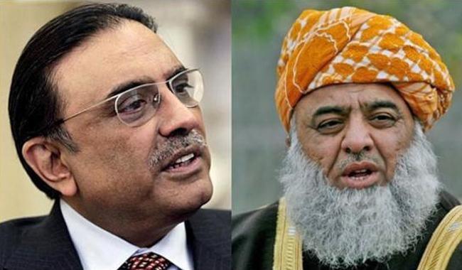 Fazlur Rehman advises Zardari to meet PM Nawaz