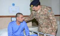 COAS visits war heroes at Armed Forces Institute of Ophthalmology