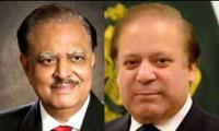 President Mamnoon telephones PM Nawaz to inquire about his health