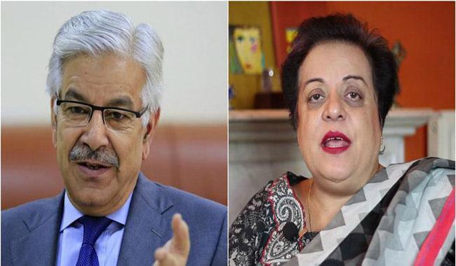 Khawaja Asif calls Shireen Mazari a 'Tractor Trolley'