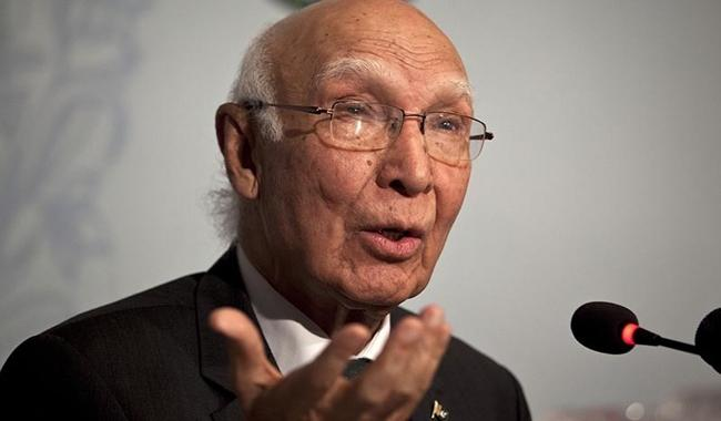 Security establishment vital in framing foreign policy: Sartaj
