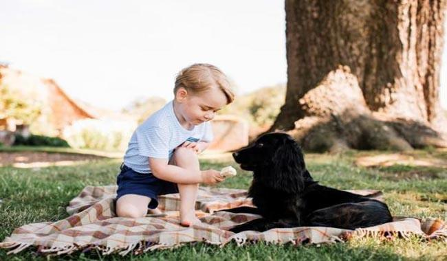 New pictures released as Britain's Prince George marks 3rd birthday