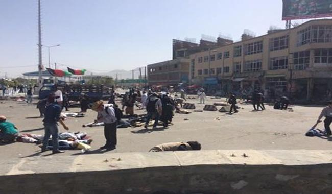 Suicide bombers at Kabul demonstration kill at least 61
